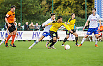 2015-10-25 / Voetbal / seizoen 2015-2016 / KSK Heist - K Lierse SK / Jan Van Den Bergh (l. KSK Heist) met Sabir Bougrine Foto: Mpics.be
