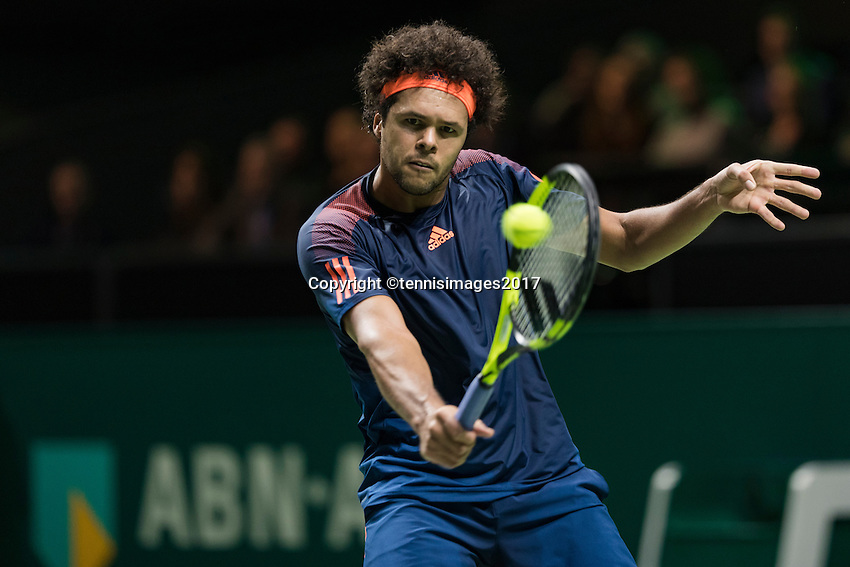 ABN AMRO World Tennis Tournament, Rotterdam, The Netherlands, 14 februari, 2017, Jo-Wilfried Tsonga (FRA)<br /> Photo: Henk Koster