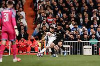 26th February 2020; Estadio Santiago Bernabeu, Madrid, Spain; UEFA Champions League Football, Real Madrid versus Manchester City; Gabriel Jesus (Manchester City) blocks the attempted cross from Daniel Carvajal (Real Madrid)