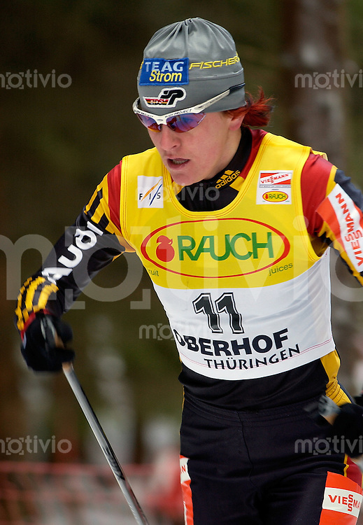 Skinordisch, Langlauf, Weltcup 2002/2003 -VIESSMANN- FIS World Cup Cross-Country Oberhof (Germany) Damen 10km klassisch Massenstart Beste deutsche Manuela Henkel (GER)
