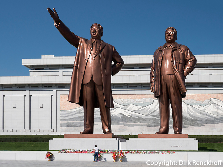 Monument Mansudae in Pyongyang, Nordkorea, Asien<br /> Mansudae Monument, Pyongyang, North Korea, Asia