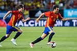 David Jimenez Silva and Pedro Rodriguez of Spain during the friendly match between Spain and Colombia at Nueva Condomina Stadium in Murcia, jun 07, 2017. Spain. (ALTERPHOTOS/Rodrigo Jimenez)