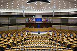 Hemiciclo del Parlamento Europeo en Bruselas. Diciembre 4, 2017. PHOTO CREDIT © DELMI ALVAREZ