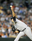 Baltimore, MD - August 31, 2009 -- New York Yankees pitcher Andy Pettitte (46) pitches in the second inning against the Baltimore Orioles at Oriole Park at Camden Yards in Baltimore, MD on Monday, August 31, 2009..Credit: Ron Sachs / CNP.(RESTRICTION: NO New York or New Jersey Newspapers or newspapers within a 75 mile radius of New York City)