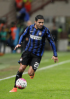 Calcio, Coppa Italia: semifinale di ritorno Inter vs Juventus. Milano, stadio San Siro, 2 marzo 2016. <br /> FC Inter&rsquo;s Eder in action during the Italian Cup second leg semifinal football match between Inter and Juventus at Milan's San Siro stadium, 2 March 2016.<br /> UPDATE IMAGES PRESS/Isabella Bonotto