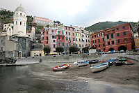 Il porto di Vernazza, uno dei borghi delle Cinque Terre.<br /> The harbor of Vernazza, at the Cinque Terre.<br /> UPDATE IMAGES PRESS/Riccardo De Luca