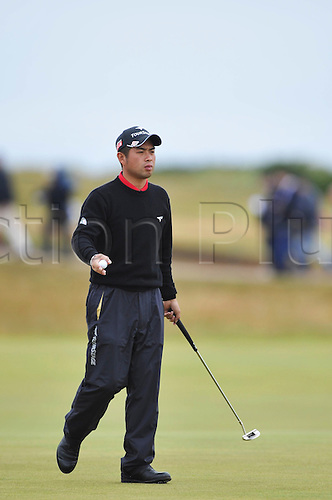 15/07/10 Yuta Ikeda (JAP) in action  on the Old Course , St  Andrews, Fife, Scotland in the first round of  British Open Championship