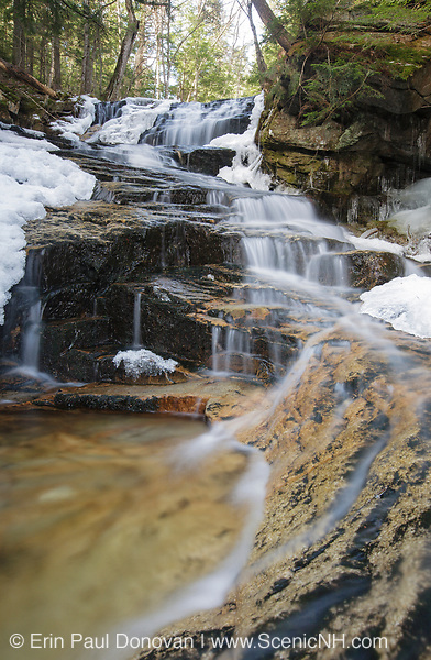 Snyder Brook Scenic Area - Tama Falls along Snyder Brook during the spring months in Randolph, New Hampshire USA