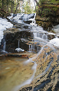 Snyder Brook Scenic Area - Tama Fall on Snyder Brook in Randolph, New Hampshire during the spring months.