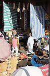 Stalls in the Souk in Marrakesh, Morocco.