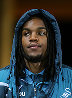 Renato Sanches of Swansea City arrives ahead of the Premier League match between Swansea City and Liverpool at the Liberty Stadium, Swansea, Wales on 22 January 2018. Photo by Mark Hawkins / PRiME Media Images.
