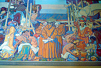 Los Angeles: L.A. Public Library--detail of Murals of Early California, 1926, by Dean Cornwall. Photo '96.