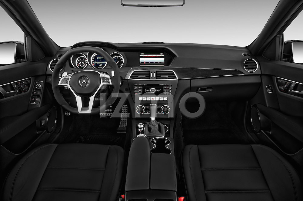 Dashboard photo of a 2013 Mercedes C-Class C63 AMG Sedan
