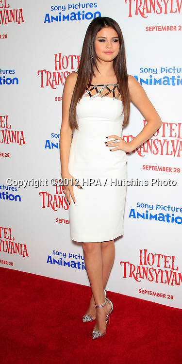"""LOS ANGELES - SEP 22:  Selena Gomez arrives at the """"Hotel Transylvania"""" Screening at Pacific Theaters at The Grove on September 22, 2012 in Los Angeles, CA"""