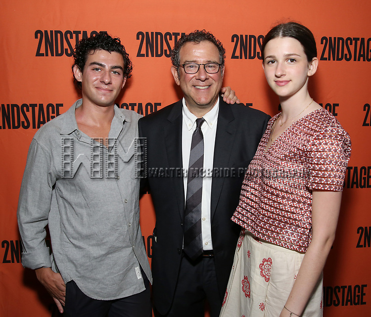 David Greif, Michael Greif and Hannah Greif attend the Opening Night performance of 'A Parallelogram'  at The Second Stage Theatre on August 2, 2017 in New York City.