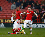 Ryan Kent  of Coventry City tackled by Paul Coutts of Sheffield Utd - English League One - Sheffield Utd vs Coventry City - Bramall Lane Stadium - Sheffield - England - 13th December 2015 - Pic Simon Bellis/Sportimage-