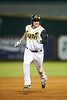 Jacksonville Suns left fielder Austin Dean (3) running the bases during a game against the Mobile BayBears on April 18, 2016 at The Baseball Grounds in Jacksonville, Florida.  Mobile defeated Jacksonville 11-6.  (Mike Janes/Four Seam Images)