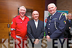 Tony Lawlor, Irish Red Cross, Donal Ford, Irish Red Cross, Tom Brosnan, Civil Defence Officer at the Red Cross Presidents Gala Dinner at the Fels Point Hotel on Saturday