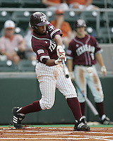 Texas A&M CF Kyle Colligan bats against Texas on May 16th, 2008 in Austin Texas. Photo by Andrew Woolley / Four Seam images.