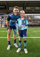 Matt Bloomfield of Wycombe Wanderers during the Pre-Season Friendly match between Wycombe Wanderers and Queens Park Rangers at Adams Park, High Wycombe, England on the 22nd July 2016. Photo by Liam McAvoy / PRiME Media Images.