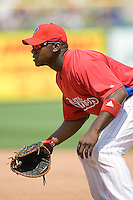 Howard, Ryan 7890.jpg. Minnesota Twins at Philadelphia Phillies. Spring Training Game. Saturday March 21st, 2009 in Clearwater, Florida. Photo by Andrew Woolley.