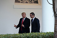 United States President Donald J. Trump walks to the Oval Office with Prime Minister of Greece Kyriakos Mitsotakis at the White House in Washington, D.C., U.S., on Tuesday, January 7, 2020.<br /> <br /> Credit: Stefani Reynolds / CNP/AdMedia