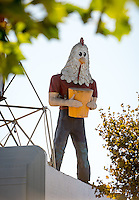 Chicken Boy in Highland Park along Figueroa, Oct. 29, 2015.<br /> (Photo by Marc Campos, Occidental College Photographer)