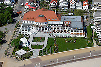 Kasino Travemuende: EUROPA, DEUTSCHLAND, SCHLESWIG- HOLSTEIN, TRAVEMUENDE (GERMANY), 15.05.2008: accomodation, architecture, Architektur, Art Nouveau, Baederarchitektur, Baltic Sea, building, Casino, Columbia Hotel Casino Travemuende, Europa, Europe, gambling, Gebaeude, Gluecksspiel, holiday, Hotel, journey, Jugendstil, Kasino, Ostsee, Reise, resort, Seebad, Spa, Spielbank, travel, Unterkuenfte, Unterkunft, vacation, Wellness, Wellnesshotel,  Luftbild, Luftaufnahme, Luftansicht.c o p y r i g h t : A U F W I N D - L U F T B I L D E R . de.G e r t r u d - B a e u m e r - S t i e g 1 0 2, 2 1 0 3 5 H a m b u r g , G e r m a n y P h o n e + 4 9 (0) 1 7 1 - 6 8 6 6 0 6 9 E m a i l H w e i 1 @ a o l . c o m w w w . a u f w i n d - l u f t b i l d e r . d e.K o n t o : P o s t b a n k H a m b u r g .B l z : 2 0 0 1 0 0 2 0  K o n t o : 5 8 3 6 5 7 2 0 9.C o p y r i g h t n u r f u e r j o u r n a l i s t i s c h Z w e c k e, keine P e r s o e n l i c h ke i t s r e c h t e v o r h a n d e n, V e r o e f f e n t l i c h u n g n u r m i t H o n o r a r n a c h M F M, N a m e n s n e n n u n g u n d B e l e g e x e m p l a r !.