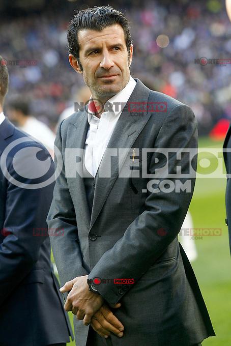 Real Madrid's legend Luis Figo during La Liga match. January 7,2016. (ALTERPHOTOS/Acero) . NORTEPHOTO.COM