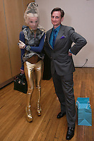 Daphne Guinness and Hamish Bowles, attend the Pratt 2011 fashion show, April 27 2011.