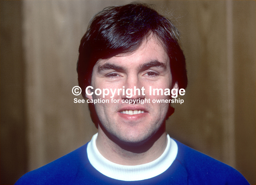 George Dunlop, footballer, Linfield FC, Belfast, N Ireland, January 1982, 198201000003GD<br /> <br /> Copyright Image from Victor Patterson, 54 Dorchester Park, Belfast, UK, BT9 6RJ<br /> <br /> t1: +44 28 9066 1296 (from Rep of Ireland 048 9066 1296)<br /> t2: +44 28 9002 2446 (from Rep of Ireland 048 9002 2446)<br /> m: +44 7802 353836<br /> <br /> e1: victorpatterson@me.com<br /> e2: victorpatterson@gmail.com<br /> <br /> www.victorpatterson.com<br /> <br /> IMPORTANT: Please see my Terms and Conditions of Use at www.victorpatterson.com