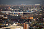 © Joel Goodman - 07973 332324 . 07/12/2013 . Manchester City Stadium , Chips , East Manchester , Etihad , Eastlands . Cityscape view of Manchester . Photo credit : Joel Goodman