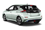 Car pictures of rear three quarter view of a 2018 Nissan Leaf SV 5 Door Hatchback angular rear