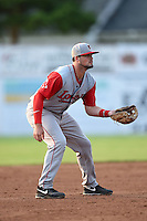 Lowell Spinners third baseman Jordan Betts (22) during a game against the Batavia Muckdogs on July 18, 2014 at Dwyer Stadium in Batavia, New York.  Lowell defeated Batavia 11-2.  (Mike Janes/Four Seam Images)