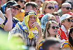 A disappointed Clare fan glances at the scoreboard near the end of the  Munster senior hurling final at Thurles. Photograph by John Kelly.
