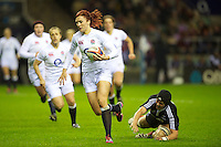 Joanne Watmore of England Women in action during the test match between England Women and the Black Ferns at Twickenham on Saturday 01 December 2012 (Photo by Rob Munro)