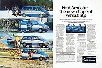 Ford, Aerostar, van, print ad, color, 1986