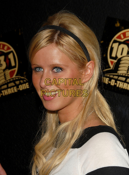 "NICKY HILTON.The ""Hedwig & The Angry Inch VIP"" Viewing held at The Roxy Theatre in West Hollywood, California, USA.  .April 3rd, 2006.Ref: DVS.headshot portrait alice band.www.capitalpictures.com.sales@capitalpictures.com.Supplied By Capital PIctures"