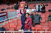 Young West Ham fan during Arsenal vs West Ham United, Premier League Football at the Emirates Stadium on 7th March 2020