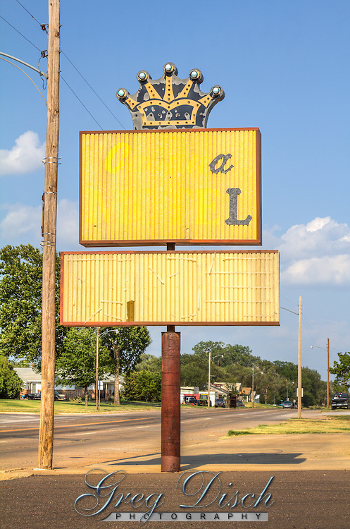 The sign for the old Cabana Motel on Route 66 in Erick Oklahoma.