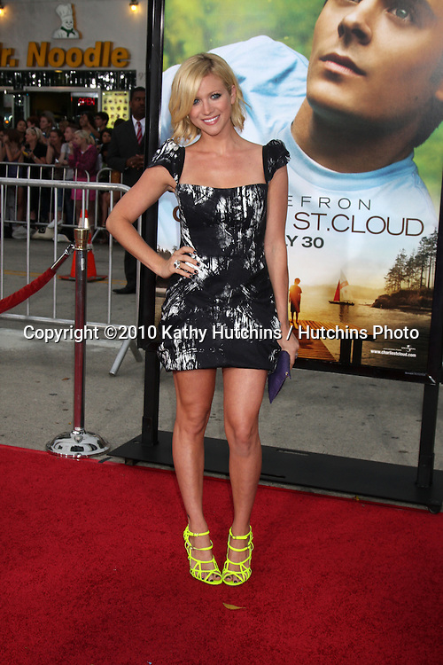 """LOS ANGELES - JUL 20:  Brittany Snow arrives at the """"Charlie St. Cloud"""" Premiere at Village Theater on July20, 2010 in Westwood, CA ...."""