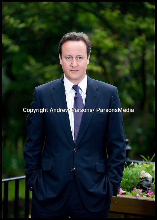 Portrait of the Prime Minister David Cameron in the gardens of No 10, Tuesday June, 2010. Photo By Andrew Parsons