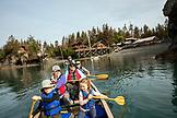 USA, Alaska, Homer, China Poot Bay, Kachemak Bay, heading out from the Kachemak Bay Wilderness Lodge by canoe