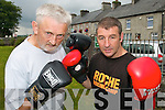 BOX ON: Jer Long (Knocknagoshel Boxing Club) and Brian Roche (Roche ABC) who are planning exchange trips between boxing clubs in Kerry and England.   Copyright Kerry's Eye 2008