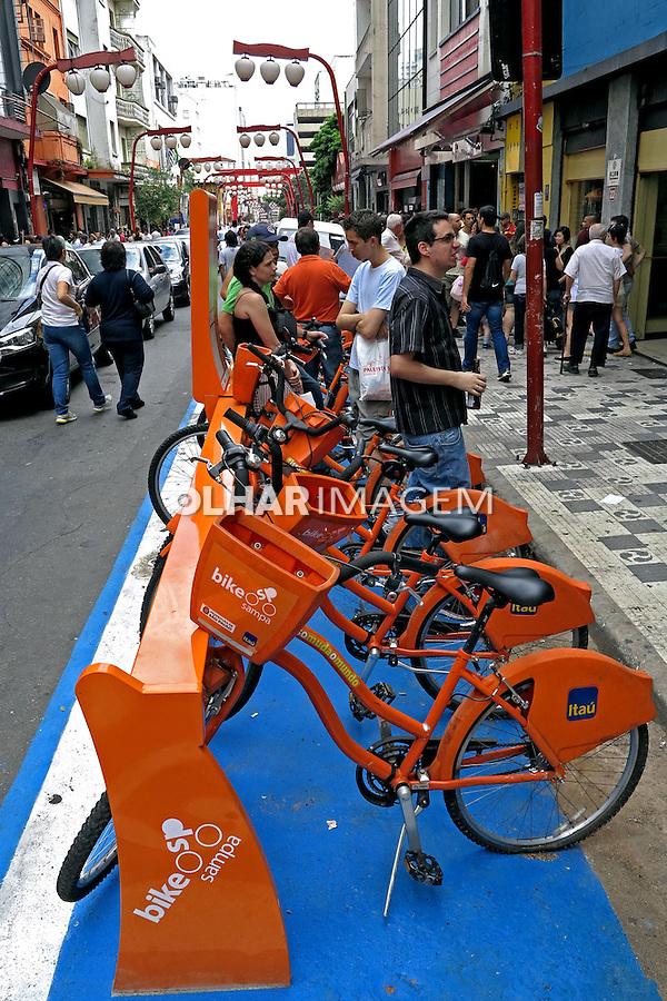 Bicicletas de aluguel, projeto bike sampa. Sao Paulo. 2013. Foto de Juca Martins.