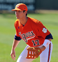 Clemson's John Nester prior to the opening game of the 2008 season between Mercer and Clemson University at Doug Kingsmore Stadium, Clemson, S.C. Photo by: Tom Priddy/Four Seam Images