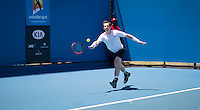 ANDY MURRAY (GBR)<br /> <br /> TENNIS - GRAND SLAM ITF / ATP  / WTA - Australian Open -  Melbourne Park - Melbourne - Victoria - Australia  - 18 January 2016<br /> <br /> &copy; AMN IMAGES