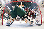 Matt Price (BC - 25), Josh Burrows (Vermont - 22) - The Boston College Eagles defeated the University of Vermont Catamounts 4-0 in the Hockey East championship game on Saturday, March 22, 2008, at TD BankNorth Garden in Boston, Massachusetts.
