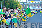 The Kerry team arrive in Denny Street Tralee on Monday Evening after being Defeated by Tyrone in the All Ireland Final in Croke Park.