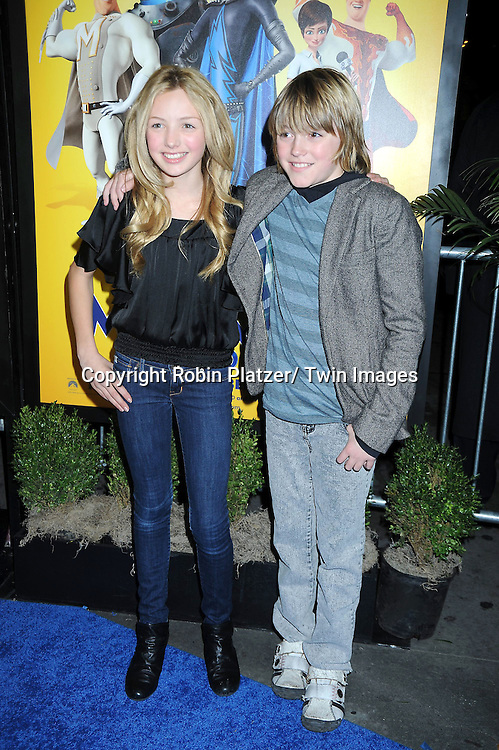 """Peyton List and Spencer List at the New York Premiere of """" Megamind"""" .on November 3, 2010 at the AMC Lincoln Square Theatre."""